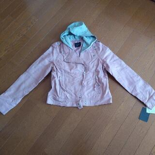 ライダースジャケット 新品 L ピンク