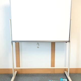 【お取引決定】中古ホワイトボード 120X90センチ 片面 消耗品付き - 家具
