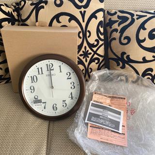 SEIKO電磁波掛け時計*新品