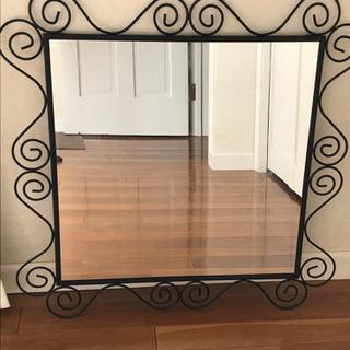 【ネット決済】カガミ IKEA イケア アイアン枠の鏡