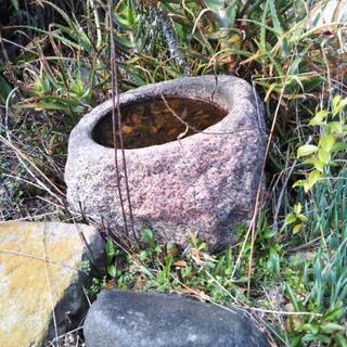 石臼 手水鉢 つくばい石 蹲 - 大和郡山市