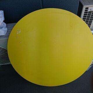 【ネット決済】ダイニングテーブル(天板、脚台)、椅子  円盤板