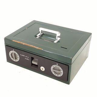 レトロCASH BOX C-320 ダイヤル錠2個 コイン穴有 金庫