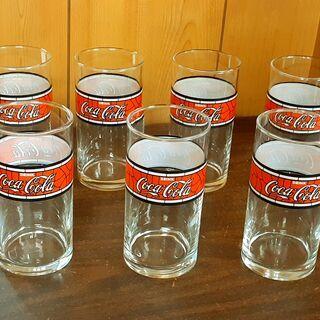 昭和レトロなデザイン コカ・コーラ グラス 7本セット