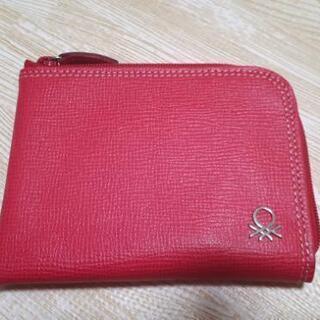 【未使用❣】薄型財布 ベネトン ピンク 小型 コンパクト