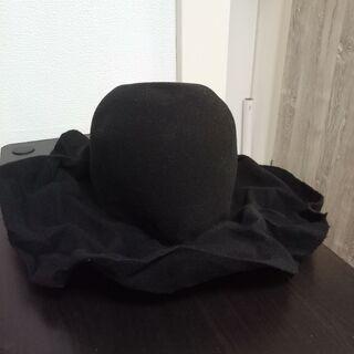 シワブリムの原宿風ウールハット 黒