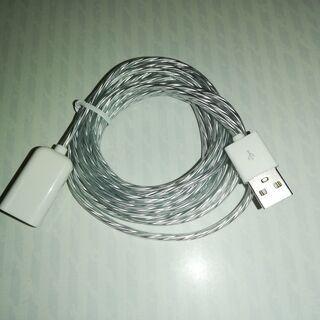 ①新品/USB延長コード/2.5m/LED/スマホ充電/汎用/ケーブル