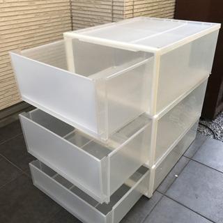 無印良品 衣装ボックス 三つセット - 大田区