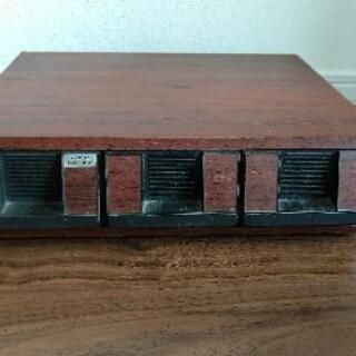 木製 カセットテープ収納ケース