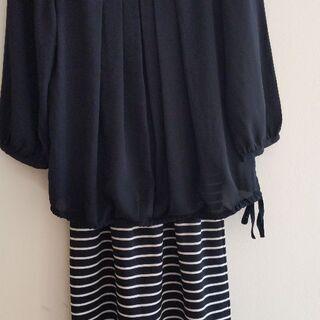 【美品】授乳服ワンピース ドレス