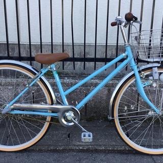 <美品>安心の日本製・女の子用・自転車  26インチ 内装3段変...