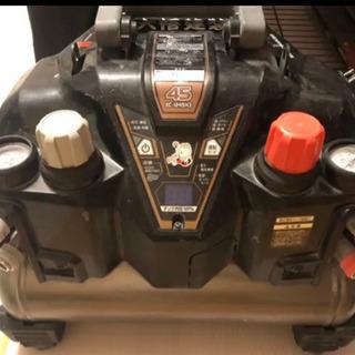 日立高圧常圧エアコンプレッサーと常圧ホース、タッカーセットまとめ売り