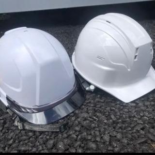 扇風機付きヘルメットと普通ヘルメット 美品