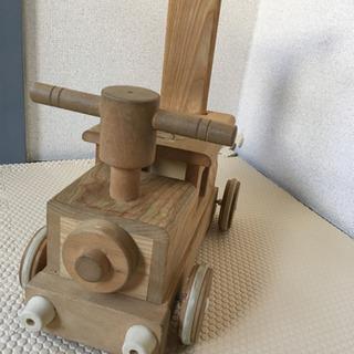 手押し車 汽車 木製