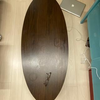 折りたたみローテーブル/木目調テーブル - 家具