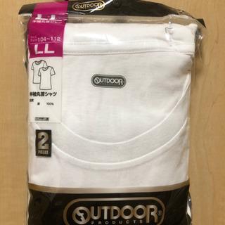【新品】半袖丸首シャツ LLサイズ 2枚組