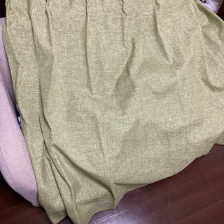 【2枚セット】ニトリ NITORI カーテン 緑 グリーン エス...