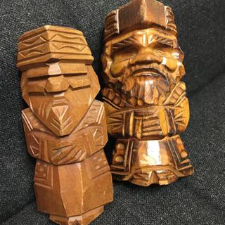 アイヌ民族 木彫人形セット