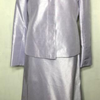 ■セットアップスーツ■ジャケット&ワンピース■9AR■薄いラベンダー色