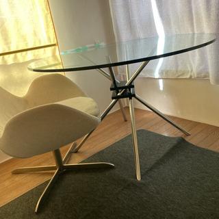 【ネット決済】ガラステーブル イタリア製
