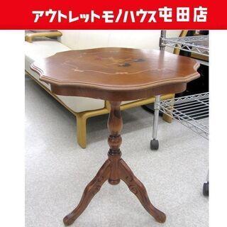 ►ラウンジ ティーテーブル 象嵌デザイン 洋風 サイド 飾り台 ...