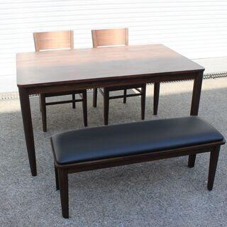 T365) 大川家具 マルタ ダイニングセット テーブル1300...