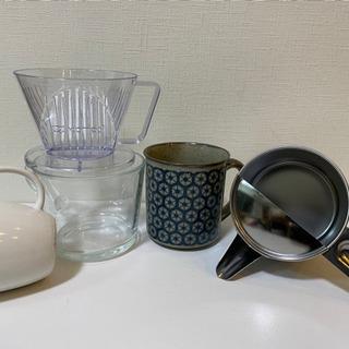 中古 食器 硝子 陶器 皿 コップ マグカップ ドリッパー 粉つぎ - 生活雑貨