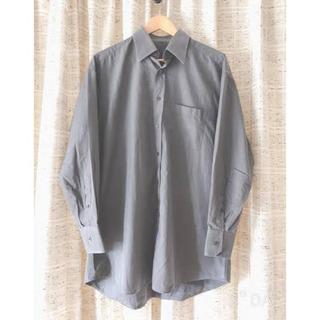 メンズ 美品グレーのシャツ春物 アメリカサイズM