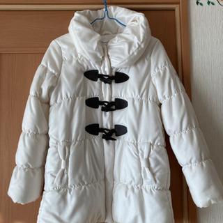 ほぼ新品❗️白コート サイズ150
