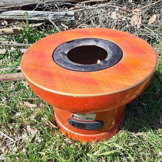 レトロな火鉢 古民家具 八千代煉炭火鉢