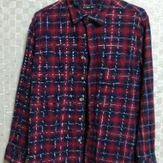 メンズLサイズチェックのシャツ