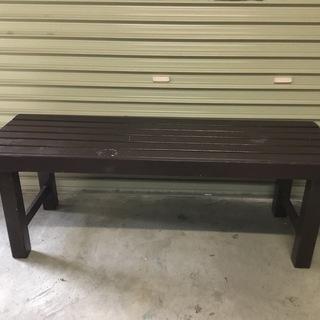 木製ベンチ ダークブラウン