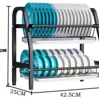 【新品】食器かご 2段水切り 水切りラック ディッシュラック 乾燥