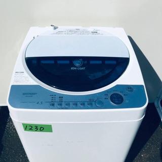 1230番 SHARP✨全自動電気洗濯機✨ES-FG45F-A‼️