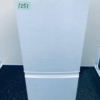 1251番シャープ✨ノンフロン冷凍冷蔵庫✨SJ-S14W-W‼️