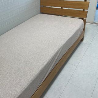 【ネット決済】木製シングルベッド