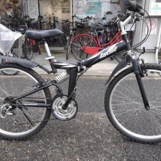 中古自転車1370 折り畳みマウンテンバイク 26インチ 3×6...