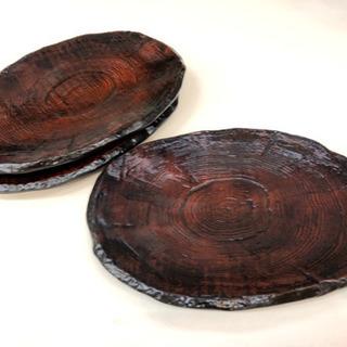 木目調のトレイ おしぼり入れ 軽量プラ 一枚100円