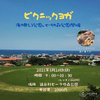 読谷村開催🌟海の見える公園でピクニックヨガ🌸