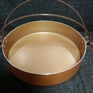 未使用  アルミ  すき焼き鍋  28㎝   ちょっと大きめ