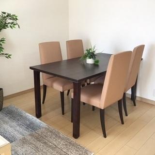 ダイニングテーブル+椅子4脚セット B