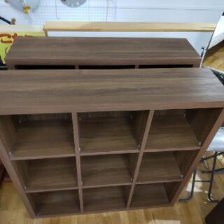 k165☆フリーラック☆木製☆幅1150㎜×高さ1150㎜×奥行き295㎜☆近隣配達、設置可能 - 家具