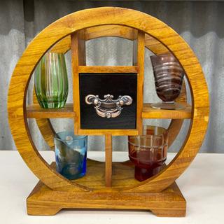 ショットグラス 飾り棚付き 手作りガラス