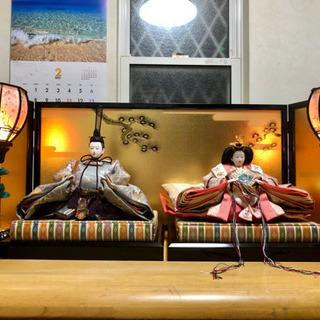一時受付終了】美品 雛人形平飾り 親王飾り