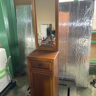 kj0226-9 収納家具 鏡付き 木