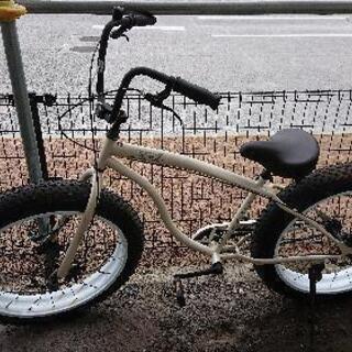 自転車 ファットバイク 26インチ ビーチクルーザー