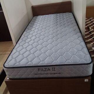 【店舗同時販売中】 NITORI ニトリ 引出付シングルベッド ...