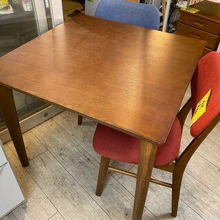 ダイニングテーブル 無垢タモ材突板 ダークブラウン 机 テーブル...