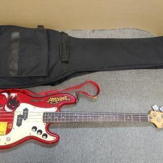 無料 ¥0 差し上げます! 派手 ベース  ギターケース付き