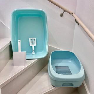 《取引中》中古&ほぼ未使用 猫トイレ デオトイレ1台+専用シート...